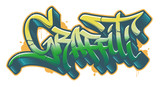 Fototapeta Młodzieżowe - Graffiti word in graffiti style. Vector text