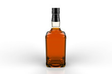 No Label Full Whiskey Bottle O...