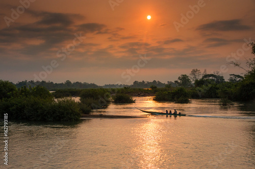 Fotografie, Obraz  Boat on the Mekong River, Laos