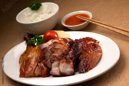 Roasted pork, chicken and duck Poster