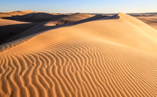 A Stunning Sunset View Of The Great Sand Sea In The Western Desert, Egypt
