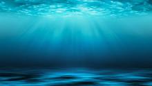 Sunbeams And Sea Deep Or Ocean...