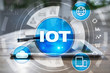 IOT. Internet of Thing concept. Multichannel online communication network.