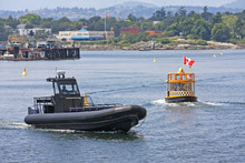 Boat And Water Taxi In Victoria Harbor