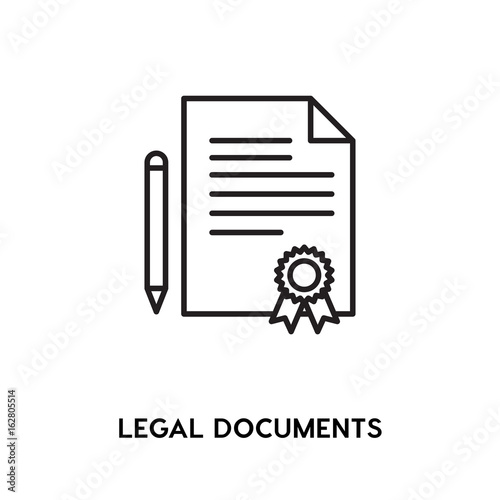 Legal Documents Vector Icon Certificate Symbol Modern Simple Flat - Simple legal documents