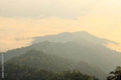 Fototapety, obrazy: Morning fog in the mountains