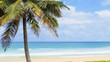 Karon Beach, Phuket, Thailand on a bright sky and beautiful sea.