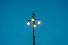 Belysningstolpe På Den Vackra Vasabron I Centrala Stockholm