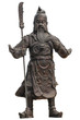 Guan Yu, the god in statue on isolate and white background