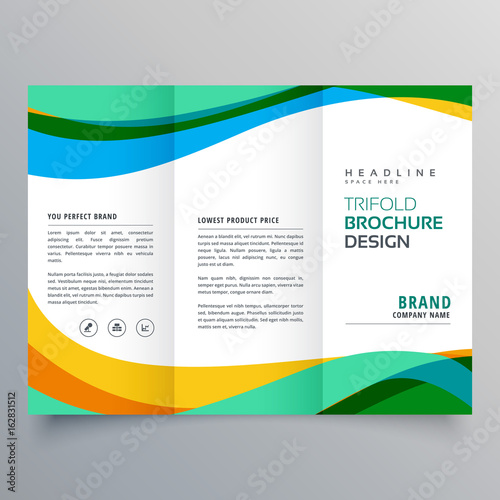 Obraz na płótnie creative trifold business brochure design template