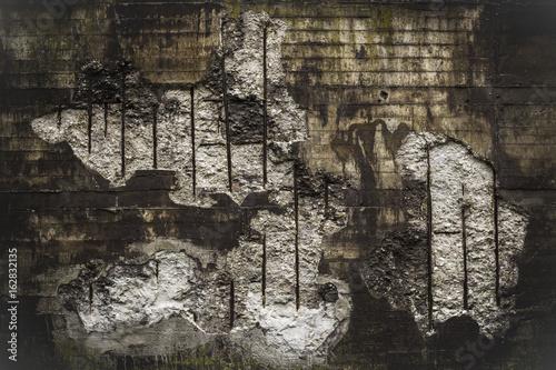 Spoed Fotobehang Baksteen muur Alte verwitterte Wand eines stillgelegten Stahlwerkes