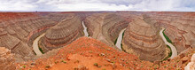 Panoramic View Of Goosenecks S...