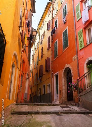 Spoed Foto op Canvas Mediterraans Europa street in old town of Nice, France, retro toned
