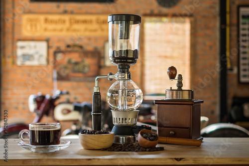 Siphon vacuum coffee maker Fototapet