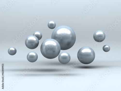 Zdjęcie XXL Abstrakcjonistyczna Futurystyczna sfera Odbija tło