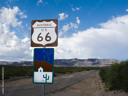 Poster Route 66 Route 66 Highway Sign