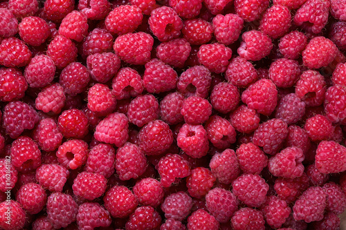 Ripe raspberry background - 162861182