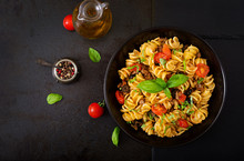 Pasta Fusilli  With Tomatoes, ...