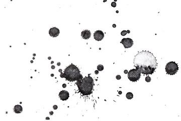 Streszczenie czarny atrament powitalny