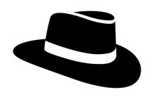 Cowboy Hat Or Country Stetson Hat Flat Icon For Apps And Websites