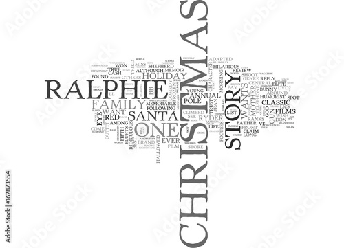 Photo  A CHRISTMAS STORY DVD REVIEW TEXT WORD CLOUD CONCEPT
