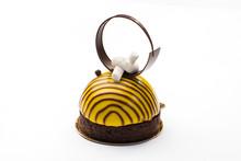 Round Cake In A Glaze In The F...