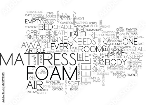 Photo  A COMPARISON OF BEDS TEXT WORD CLOUD CONCEPT