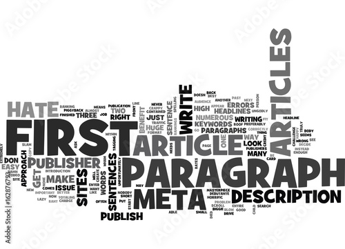 A PUBLISHER S RANT WHY I HATE YOUR FIRST PARAGRAPH TEXT WORD CLOUD CONCEPT Wallpaper Mural