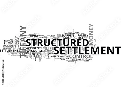 Fotografie, Obraz  A STRUCTURED SETTLEMENT NIGHTMARE DON T LET THIS HAPPEN TO YOU TEXT WORD CLOUD C