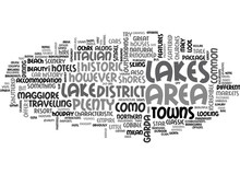 A TOURIST GUIDE TO THE ITALIAN LAKES TEXT WORD CLOUD CONCEPT