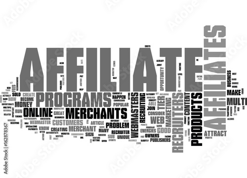 A UNIQUE OPPORTUNITY FOR AFFILIATE RECRUITERS TEXT WORD CLOUD CONCEPT Poster