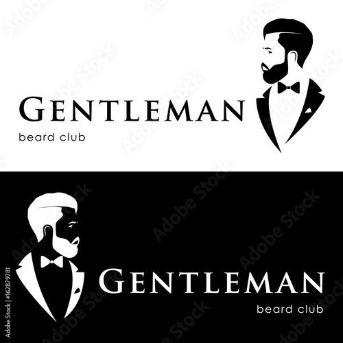 Leinwand Poster Gentleman logotype, beard club