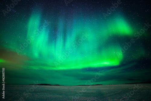 Foto auf Gartenposter Nordlicht Northern Lights. Aurora over Scandinavia. March 2017