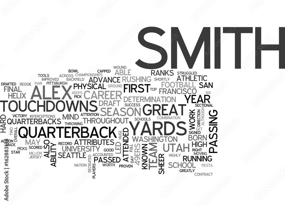 Photo & Art Print ALEX SMITH DRAFT DAY PICKS TEXT WORD CLOUD