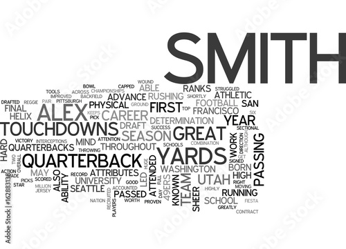 Fotografie, Obraz  ALEX SMITH DRAFT DAY PICKS TEXT WORD CLOUD CONCEPT