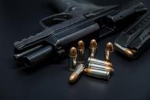 9 Mm Pistol, Bullets And Magaz...