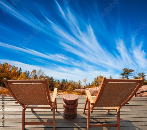 Fototapety, obrazy: Cirrus clouds in the autumn sky
