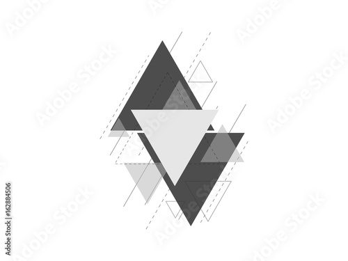 Fotografie, Obraz  minimal geometric triangle design background vector