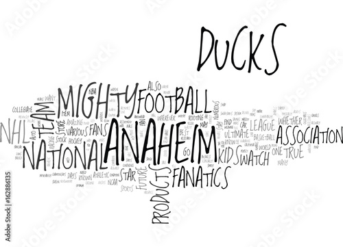 Photographie  ANAHEIM ANGELS PREVIEW TEXT WORD CLOUD CONCEPT