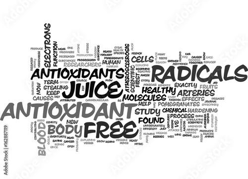 ANTIOXIDANT HEALTH BENEFITS TEXT WORD CLOUD CONCEPT Wallpaper Mural