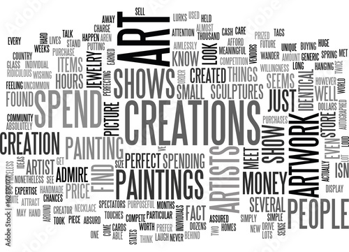 ART SHOWS TEXT WORD CLOUD CONCEPT Wallpaper Mural