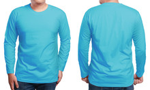 Blue Long Sleeved Shirt Design...