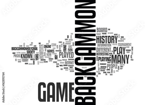 Obraz na plátne BACKGAMMON HISTORY TEXT WORD CLOUD CONCEPT