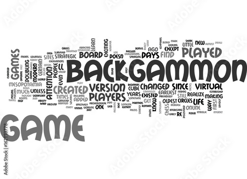 Fotografia, Obraz BACKGAMMON FOR BEGINNERS TEXT WORD CLOUD CONCEPT