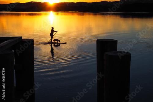 Obrazy na płótnie Canvas Stand Up Paddle Boarder