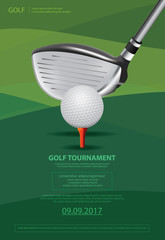 Fototapeta Poster Golf Vector Illustration