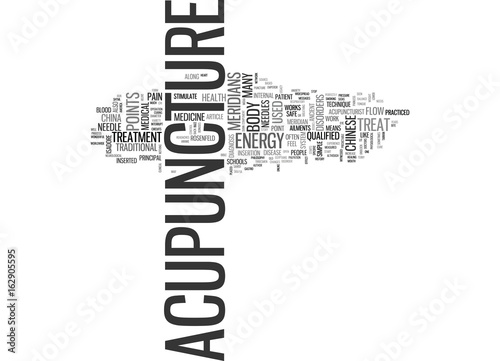 WHAT DISORDERS CAN ACUPUNCTURE TREAT AND HOW DOES IT WORK TEXT WORD CLOUD CONCEP Canvas Print