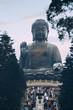 Giant buddha statue in tian tan hong kong china
