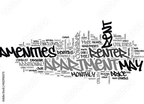 Fotografia, Obraz  WHAT DOES THE RENT INCLUDE TEXT WORD CLOUD CONCEPT
