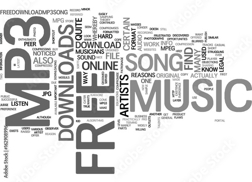 What Is Free Mp Music Download Text Word Cloud Concept Buy This